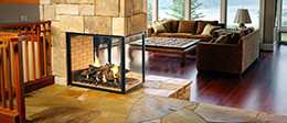 fireplace glass, custom glass