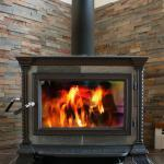 Woodstove with glass