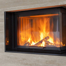 fireplace glass for woodstove