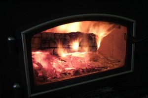 woodstove glass