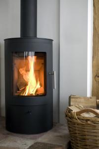 wood stove glass