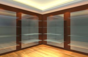 tempered glass wall shelves