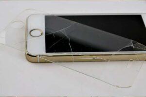 damaged tempered glass