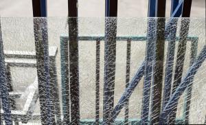 shattered tempered glasses