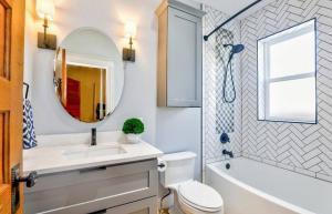 Framed Bathroom Vanity Mirror With Lights